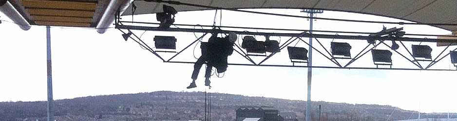 Abseil Systems Safe Work Positioning At Height And In